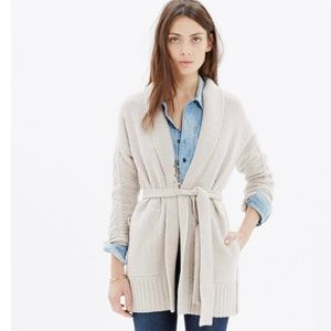 Madewell Merino Wool Shawl Collar Wrap Cardigan